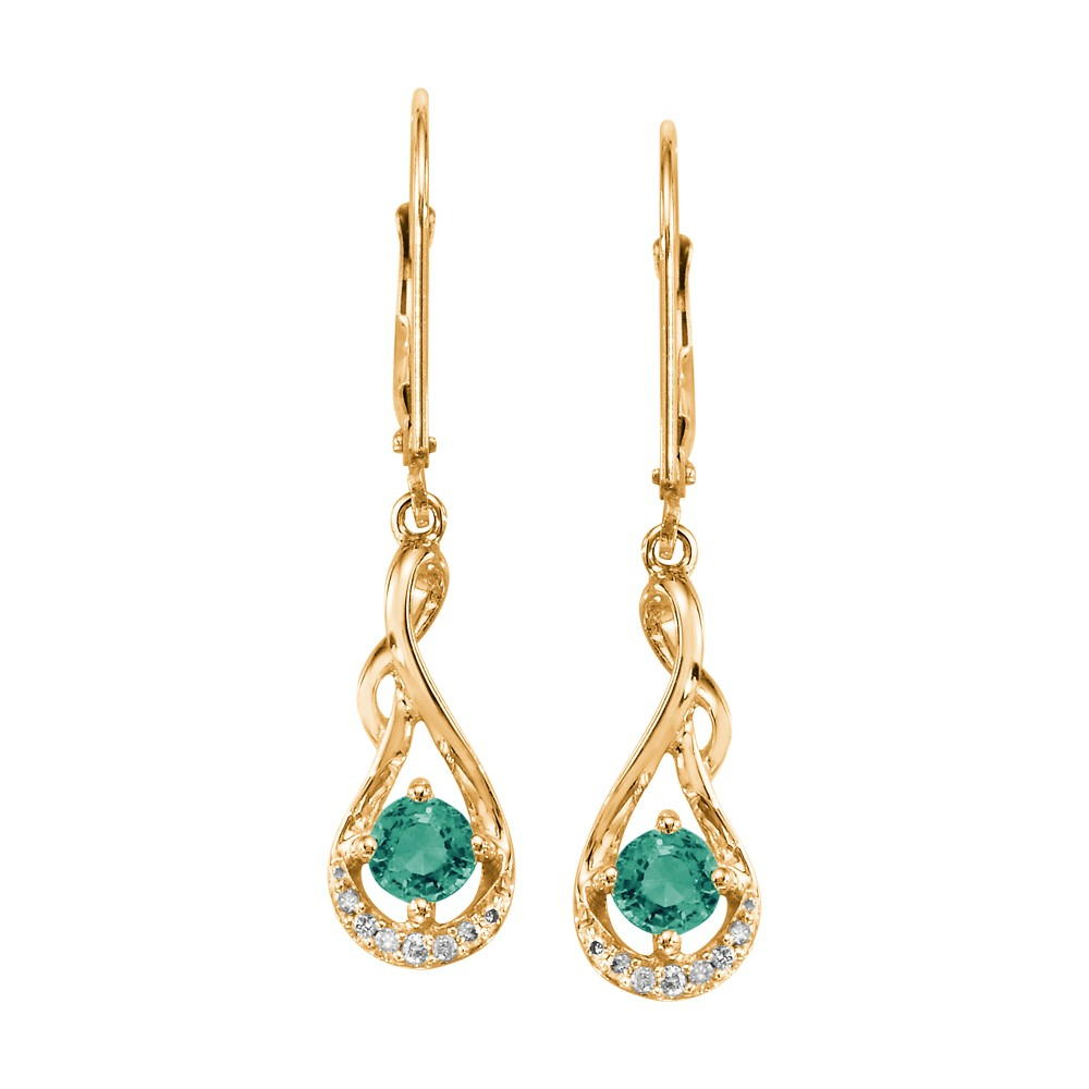 Yellow Gold Emerald Earrings Bijoux Fine Jewelers Sulphur, LA