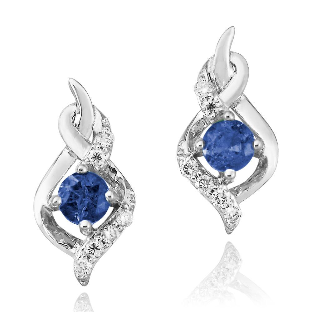 White Gold Sapphire Earrings Arthur's Jewelry Bedford, VA