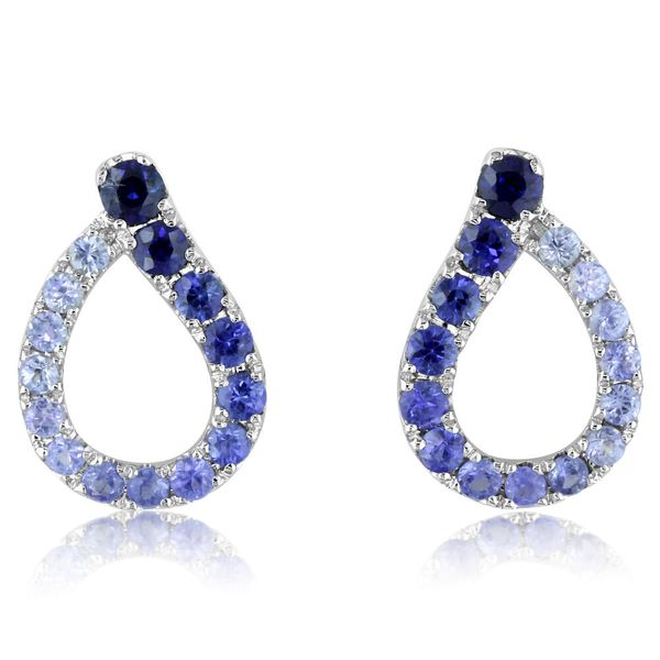 White Gold Sapphire Earrings The Jewelry Source El Segundo, CA