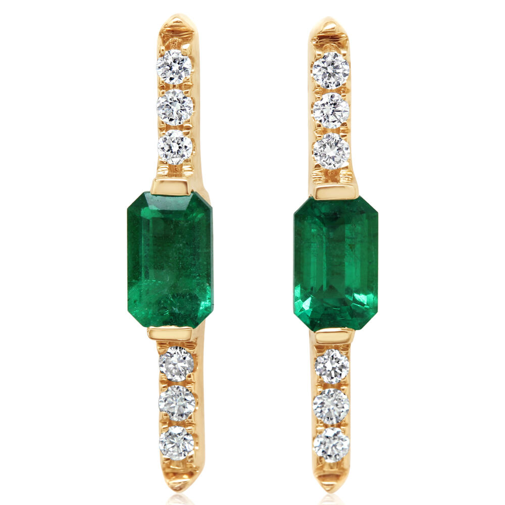 Yellow Gold Emerald Earrings Towne & Country Jewelers Westborough, MA
