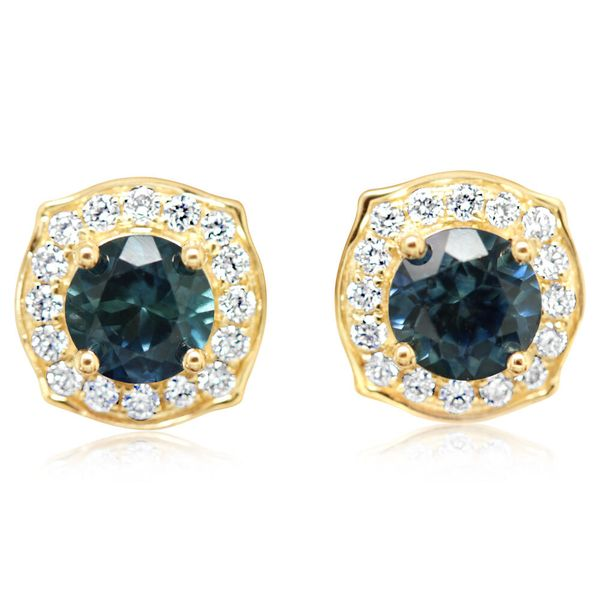 Yellow Gold Sapphire Earrings Towne & Country Jewelers Westborough, MA