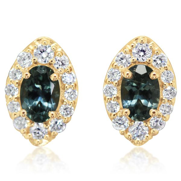 Yellow Gold Sapphire Earrings The Jewelry Source El Segundo, CA