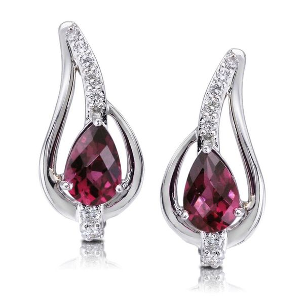 White Gold Rhodolite Garnet Earrings Bijoux Fine Jewelers Sulphur, LA