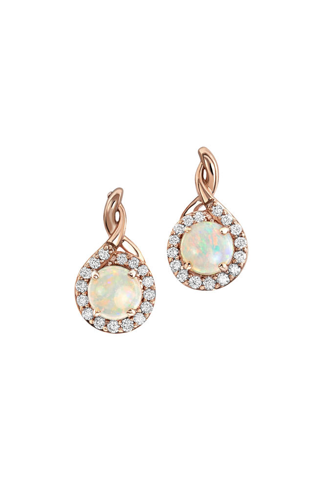 Rose Gold Calibrated Light Opal Earrings Bijoux Fine Jewelers Sulphur, LA
