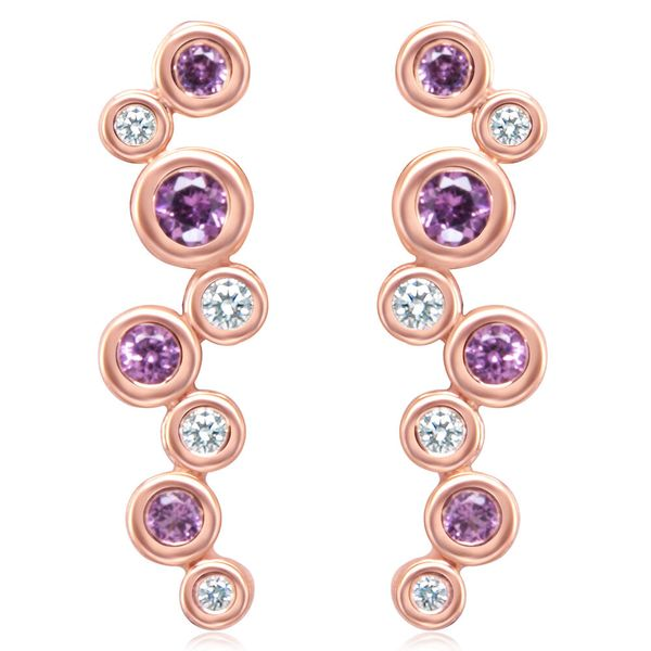 Rose Gold Garnet Earrings Towne & Country Jewelers Westborough, MA