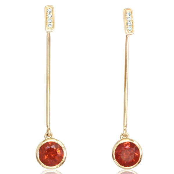 Yellow Gold Fire Opal Earrings Arthur's Jewelry Bedford, VA