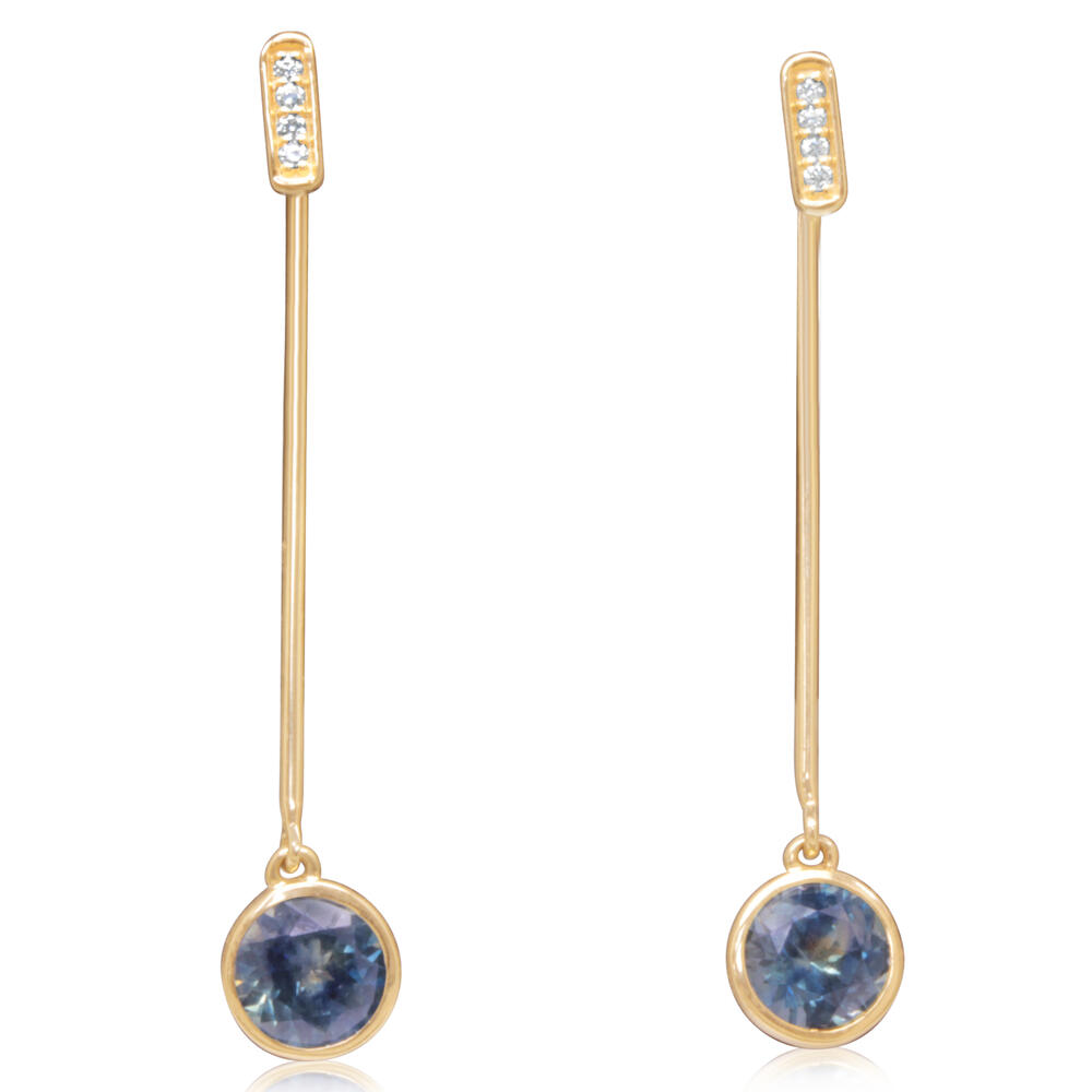 Yellow Gold Sapphire Earrings Arthur's Jewelry Bedford, VA