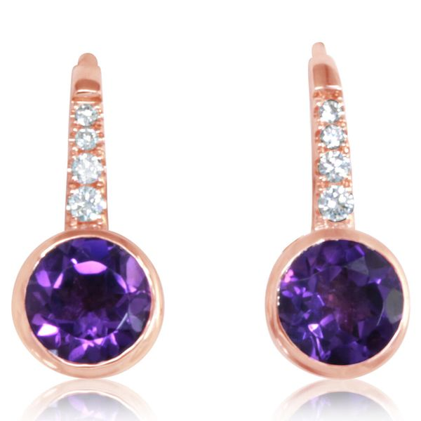 Rose Gold Amethyst Earrings Arthur's Jewelry Bedford, VA