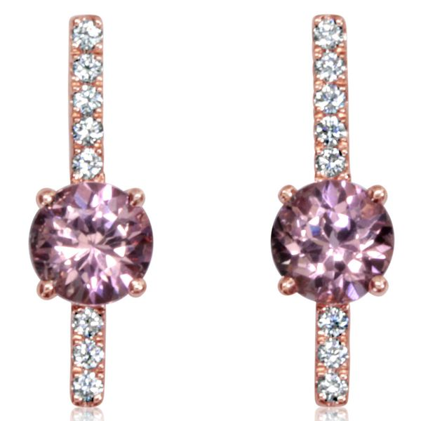 Rose Gold Lotus Garnet Earrings Bijoux Fine Jewelers Sulphur, LA