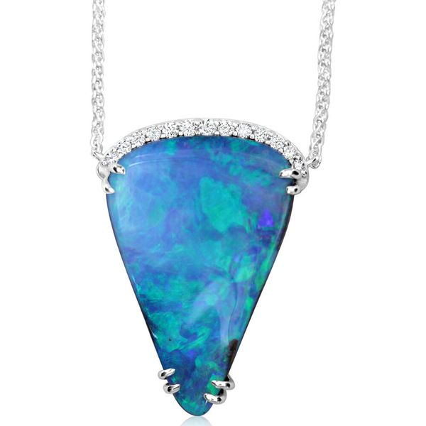 White Gold Boulder Opal Necklace Bijoux Fine Jewelers Sulphur, LA