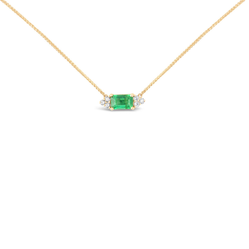 Yellow Gold Emerald Necklace The Jewelry Source El Segundo, CA