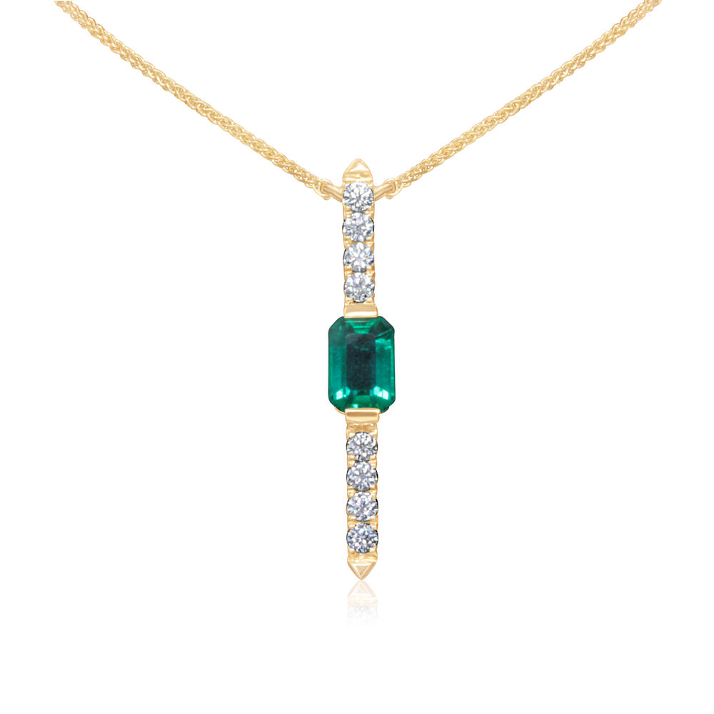 Yellow Gold Emerald Necklace Arthur's Jewelry Bedford, VA