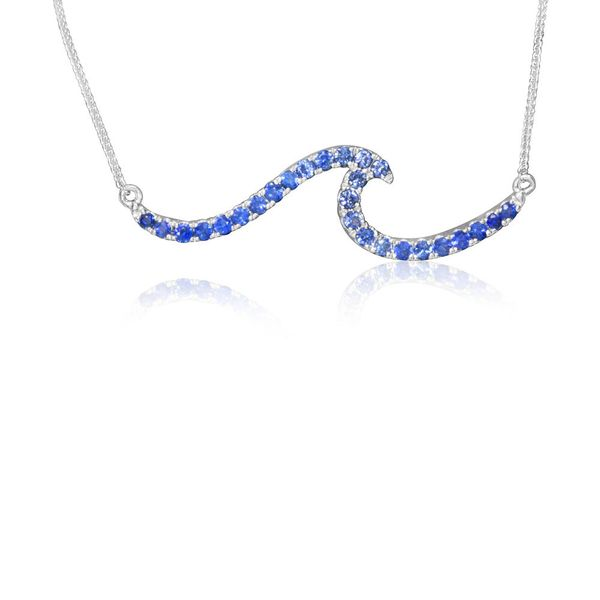 White Gold Sapphire Necklace The Jewelry Source El Segundo, CA