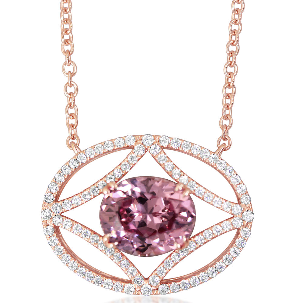 Rose Gold Lotus Garnet Necklace Bijoux Fine Jewelers Sulphur, LA