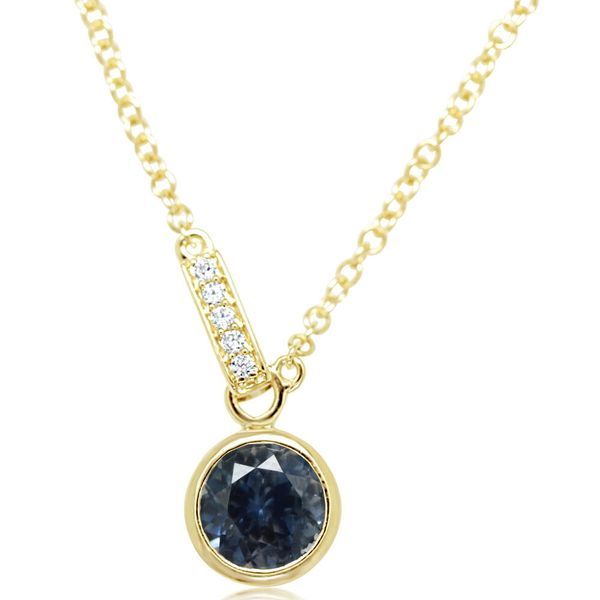Yellow Gold Sapphire Necklace The Jewelry Source El Segundo, CA