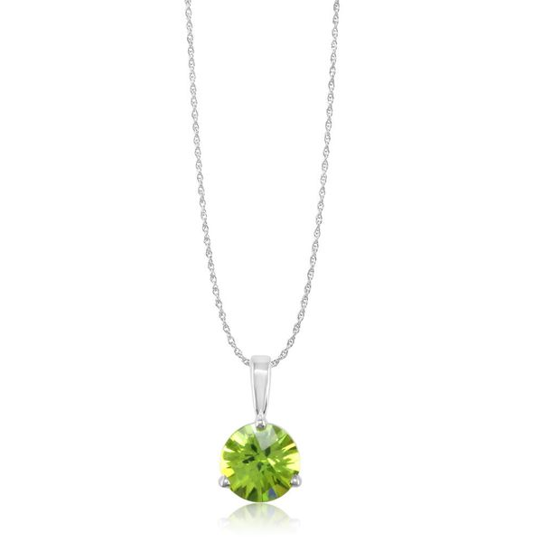 White Gold Peridot Pendant Towne & Country Jewelers Westborough, MA