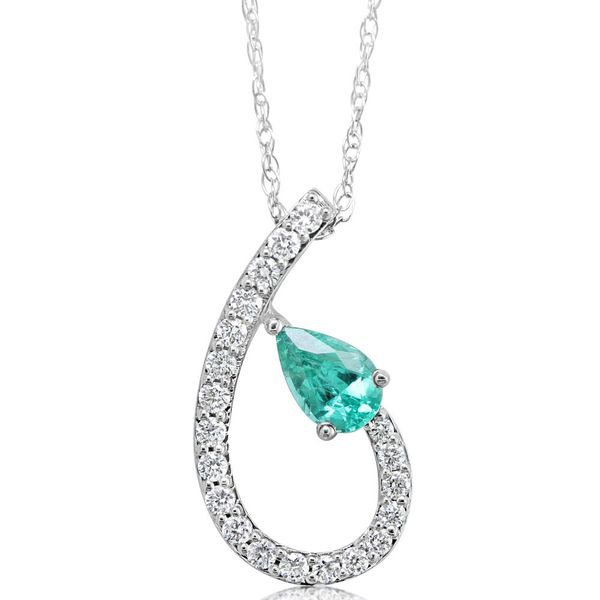 White Gold Emerald Pendant The Jewelry Source El Segundo, CA