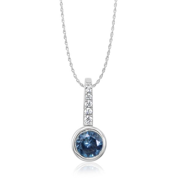 White Gold Sapphire Pendant The Jewelry Source El Segundo, CA