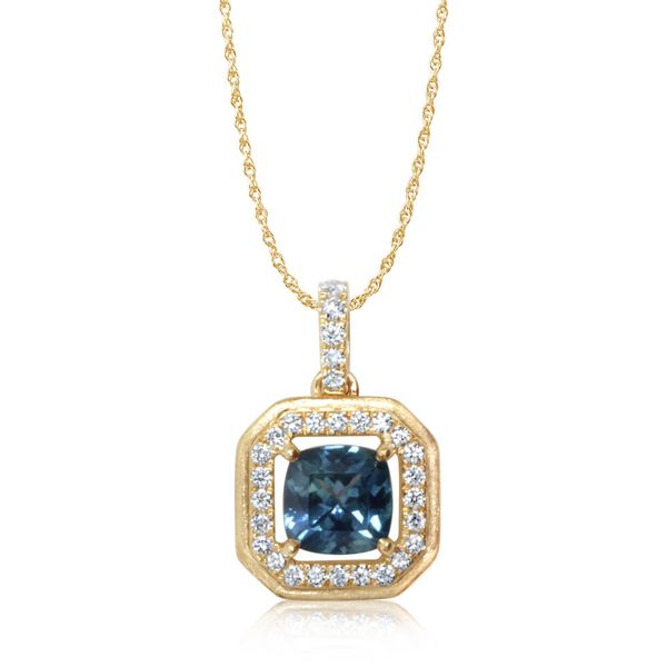 Yellow Gold Sapphire Pendant Towne & Country Jewelers Westborough, MA