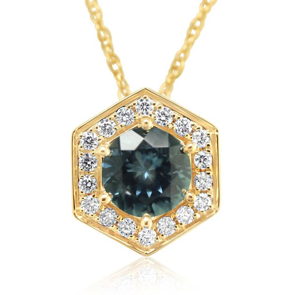 Yellow Gold Sapphire Pendant The Jewelry Source El Segundo, CA