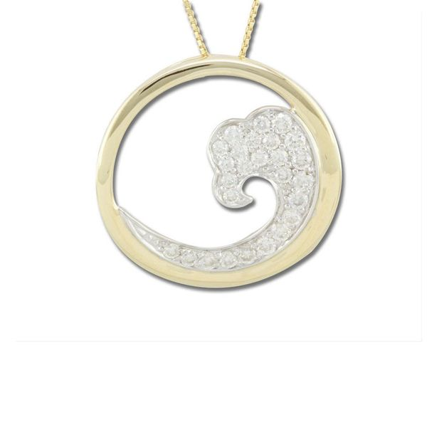 Two Tone Diamond Pendant The Jewelry Source El Segundo, CA