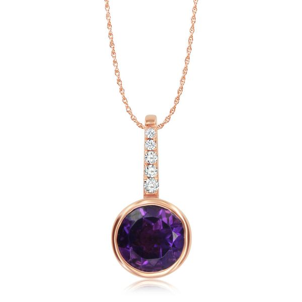 Rose Gold Amethyst Pendant Towne & Country Jewelers Westborough, MA