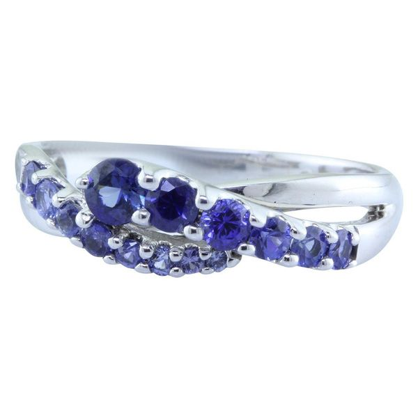 White Gold Sapphire Ring Image 2 Towne & Country Jewelers Westborough, MA