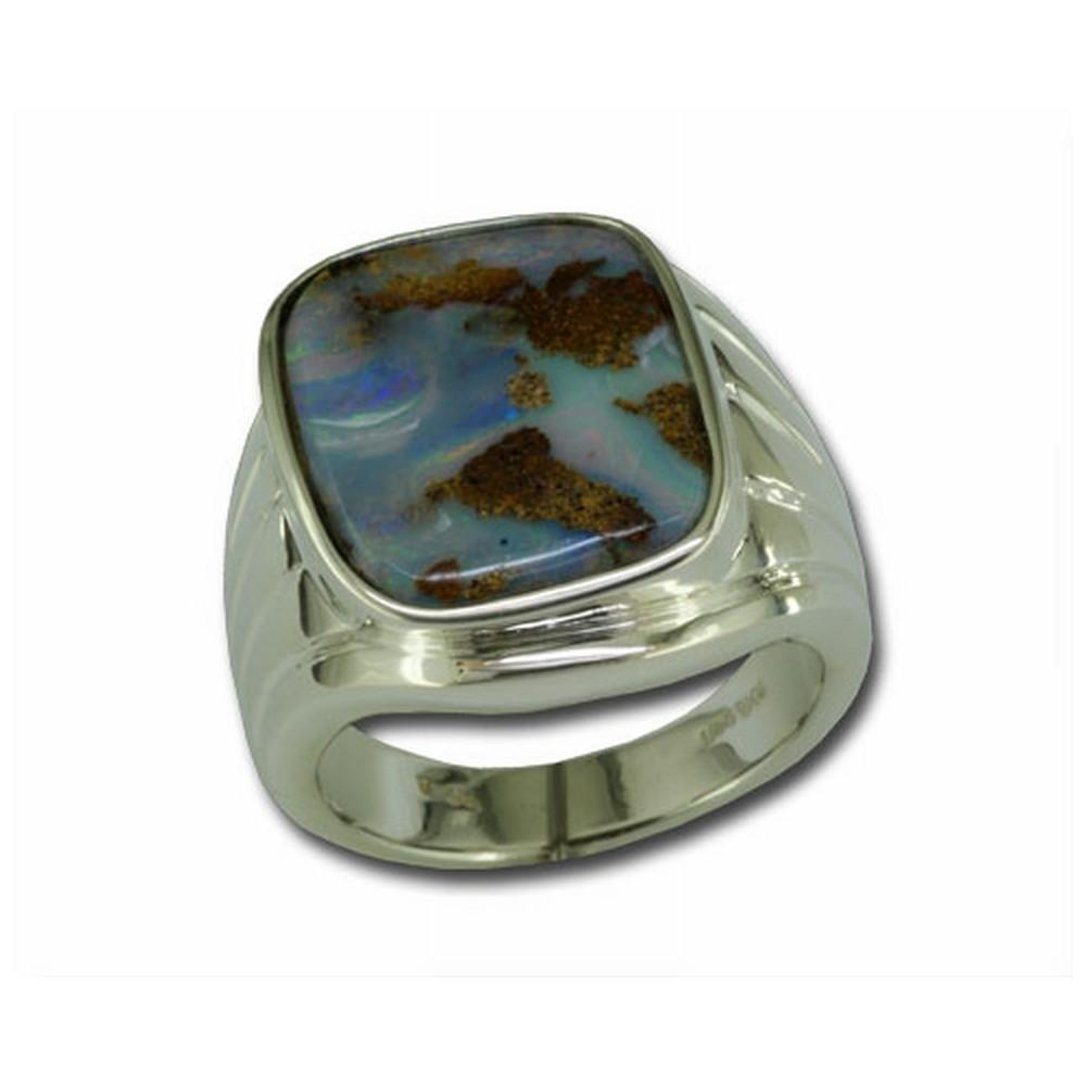 Sterling Silver Boulder Opal Ring Mitchell's Jewelry Norman, OK