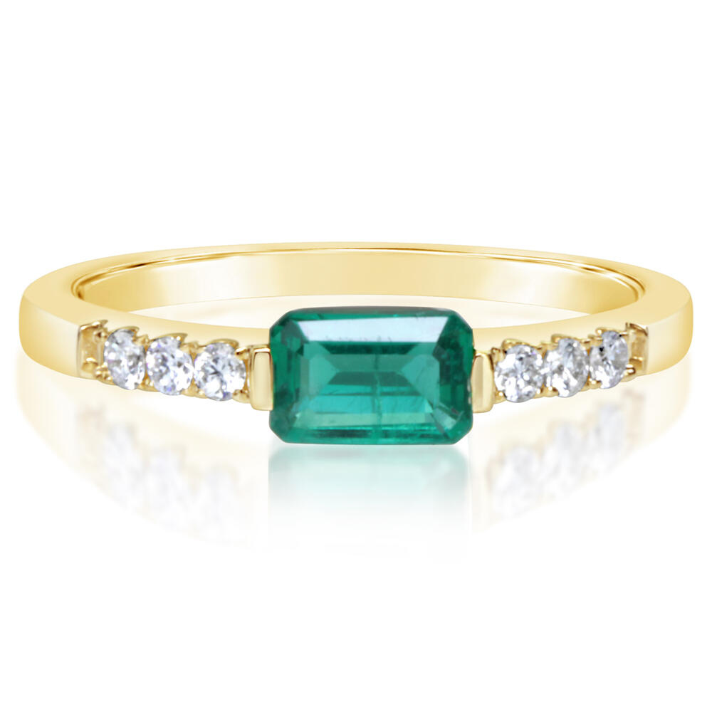 Yellow Gold Emerald Ring The Jewelry Source El Segundo, CA