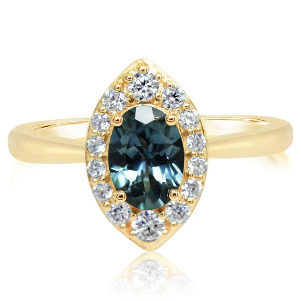 Yellow Gold Sapphire Ring Towne & Country Jewelers Westborough, MA