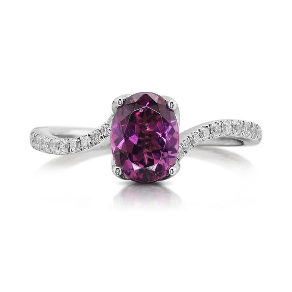 White Gold Garnet Ring Towne & Country Jewelers Westborough, MA