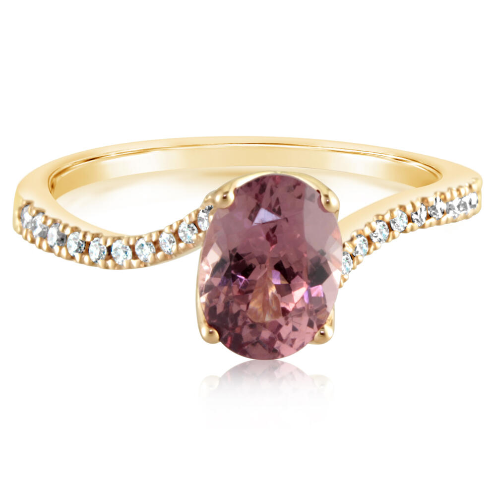 Rose Gold Lotus Garnet Ring Rick's Jewelers California, MD