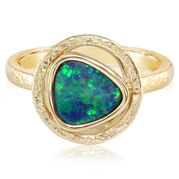Yellow Gold Opal Doublet Ring Bijoux Fine Jewelers Sulphur, LA