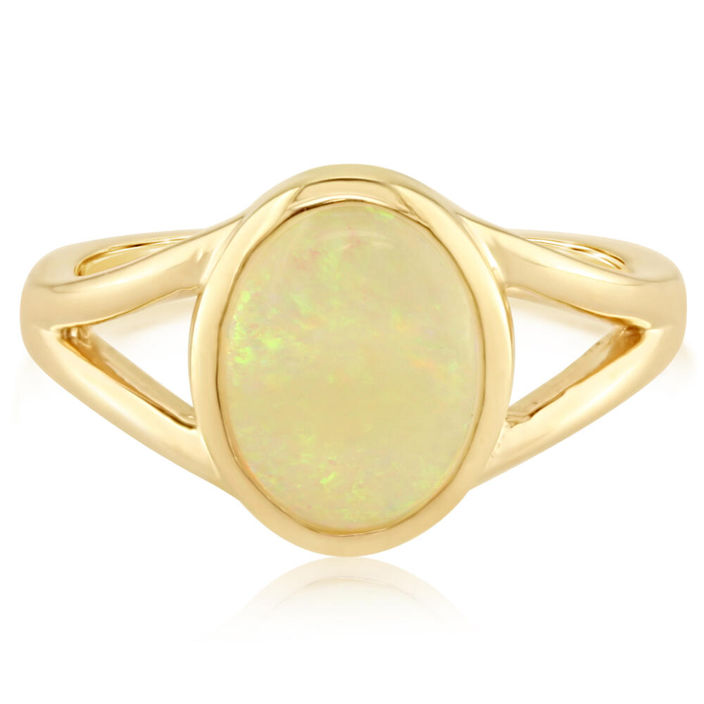 White Gold Calibrated Light Opal Ring The Jewelry Source El Segundo, CA