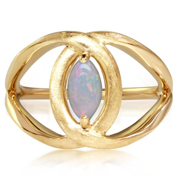 Yellow Gold Calibrated Light Opal Ring The Jewelry Source El Segundo, CA