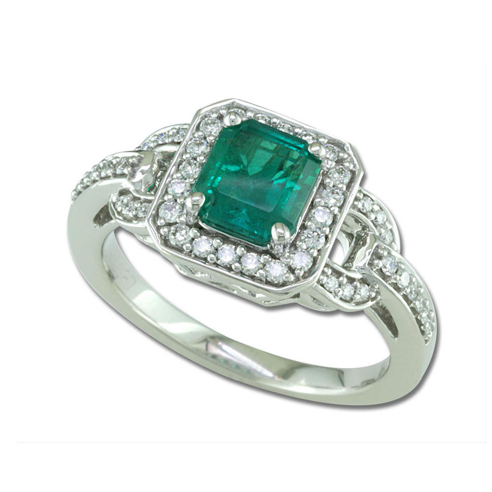 White Gold Emerald Ring The Jewelry Source El Segundo, CA
