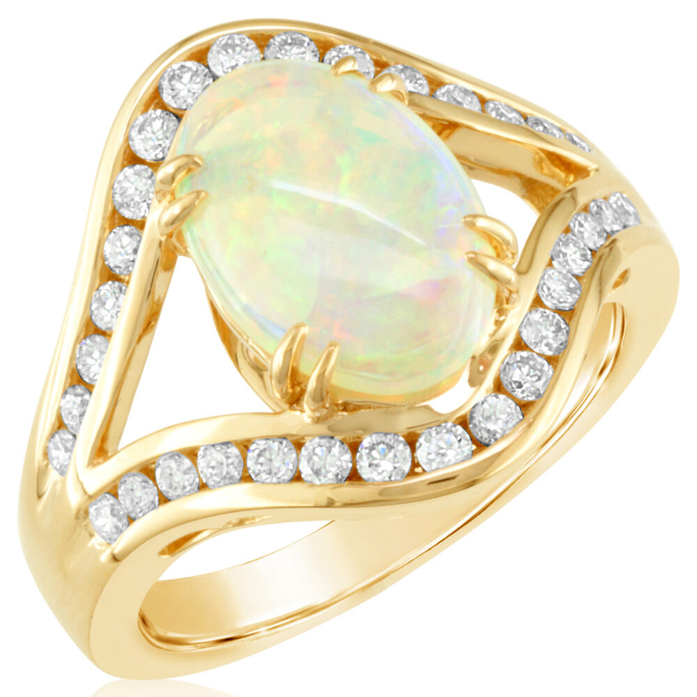 Parle Yellow Gold Natural Opal Ring Rnlfs400157ei H Brandt Jewelers Natick Ma