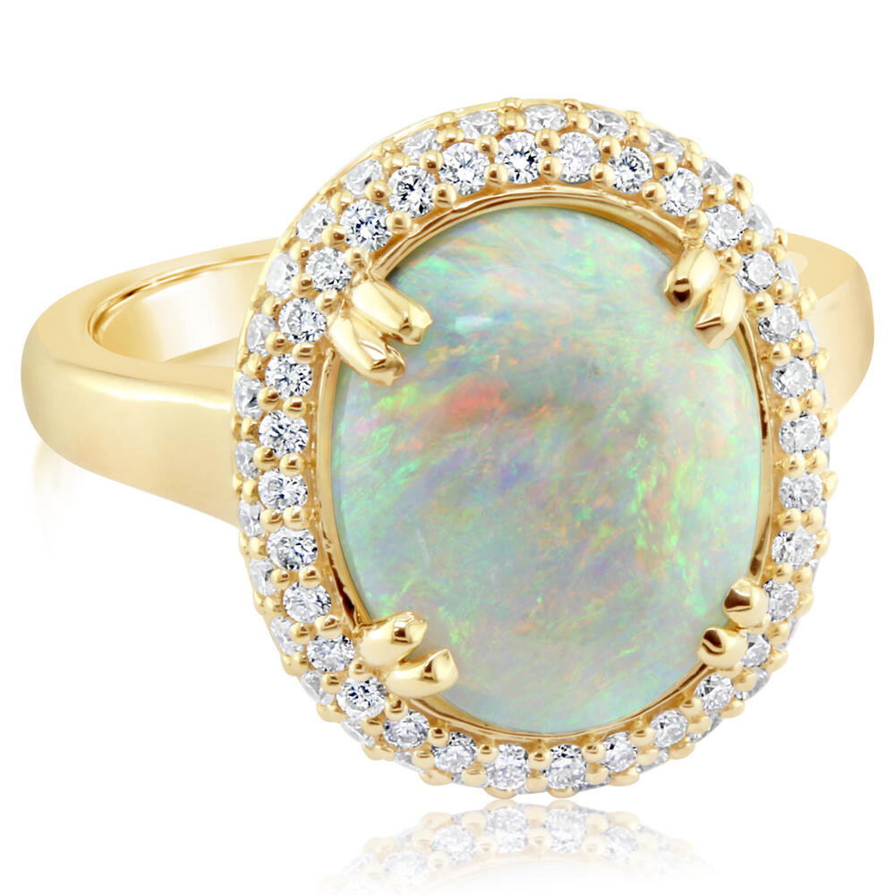 Yellow Gold Natural Opal Ring H. Brandt Jewelers Natick, MA