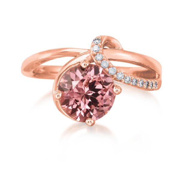 Rose Gold Lotus Garnet Ring Mitchell's Jewelry Norman, OK