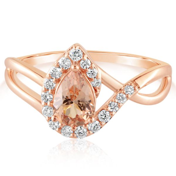 Rose Gold Lotus Garnet Ring The Jewelry Source El Segundo, CA