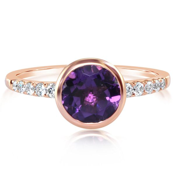 Rose Gold Amethyst Ring Towne & Country Jewelers Westborough, MA