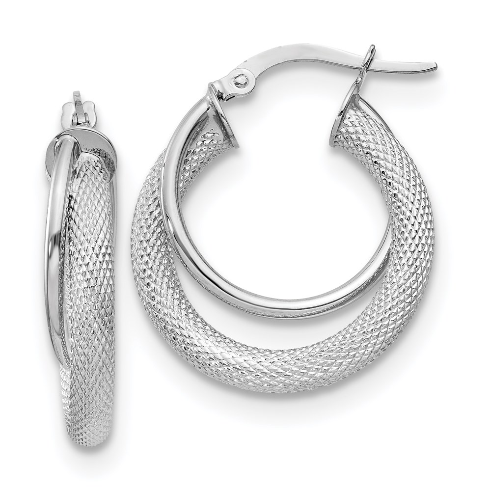 14k White Gold Earrings by Leslie