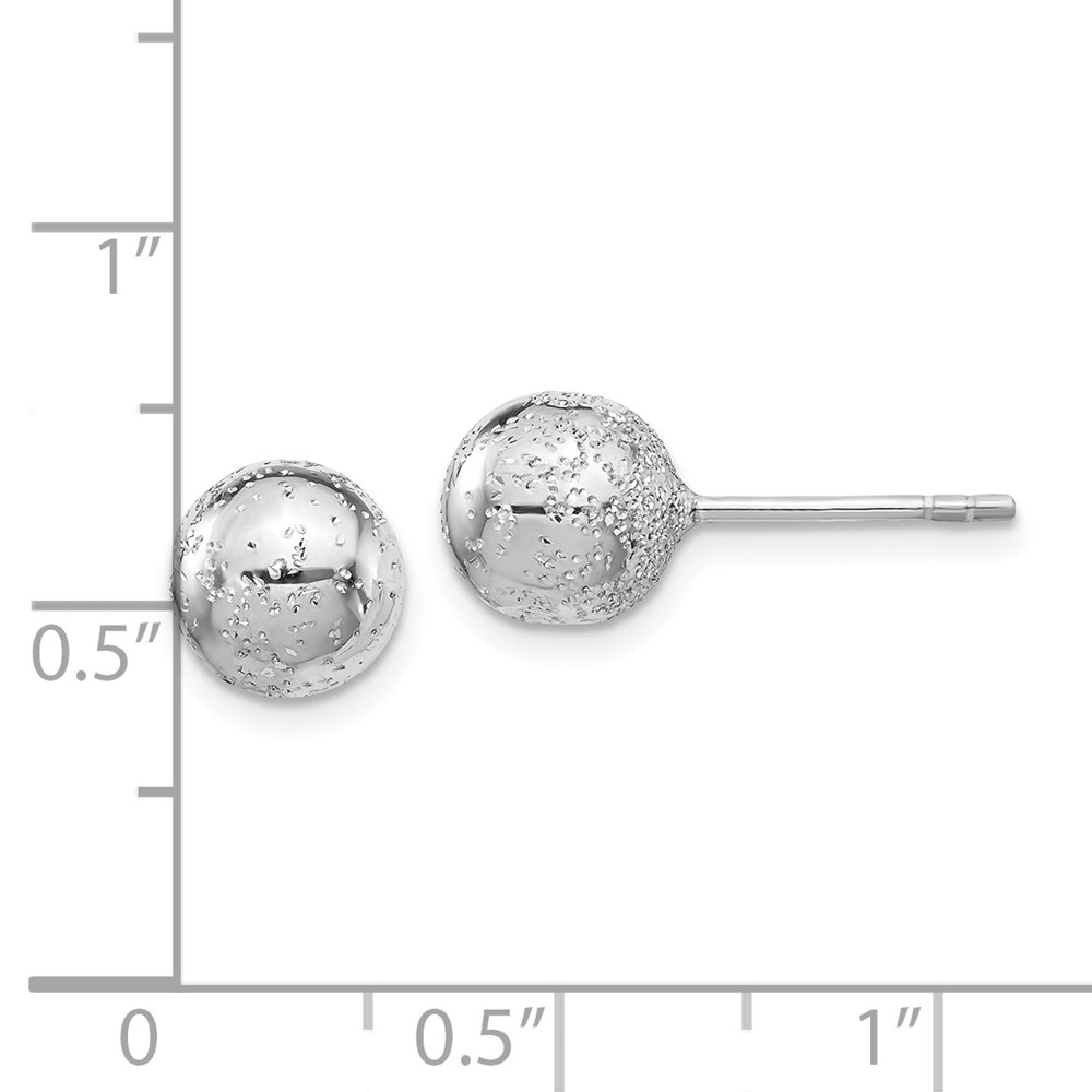 Leslies Sterling Silver 8mm Ball Post Earrings