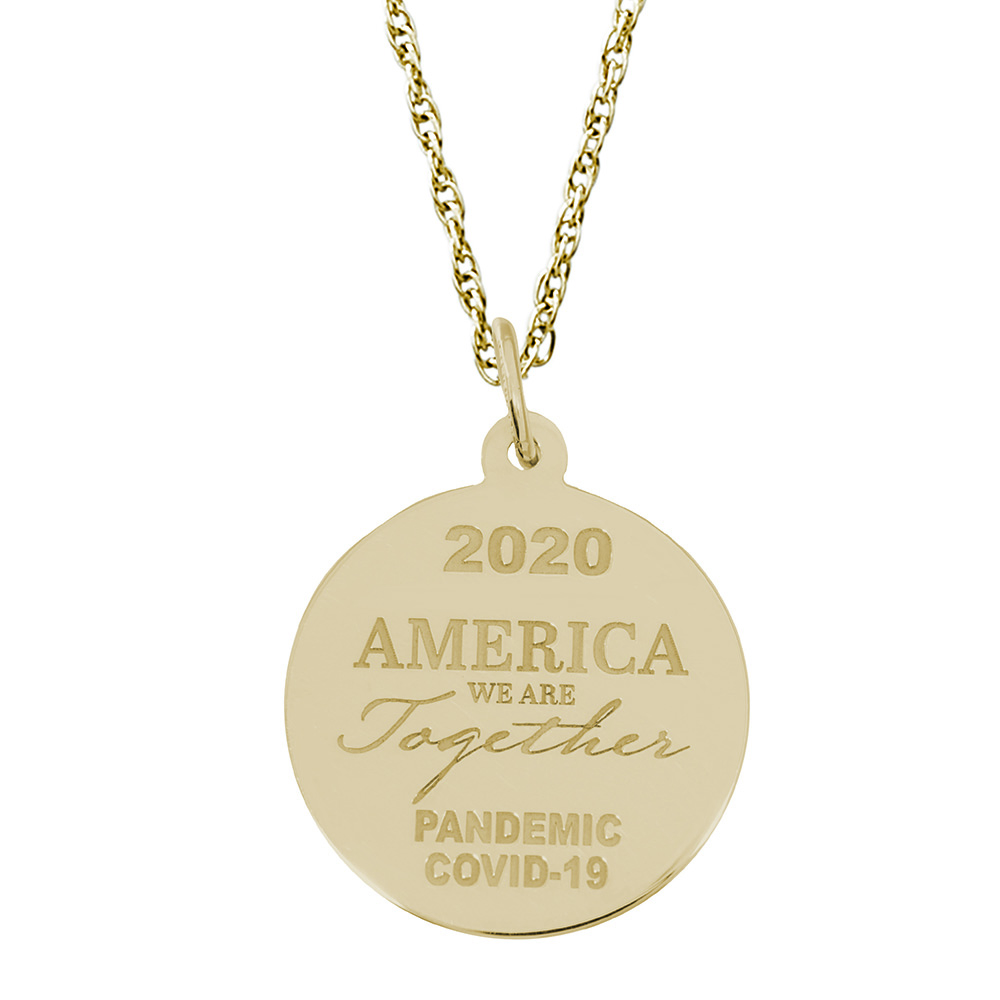 Covid-19 America Together Charm & Chain by Rembrandt Charms