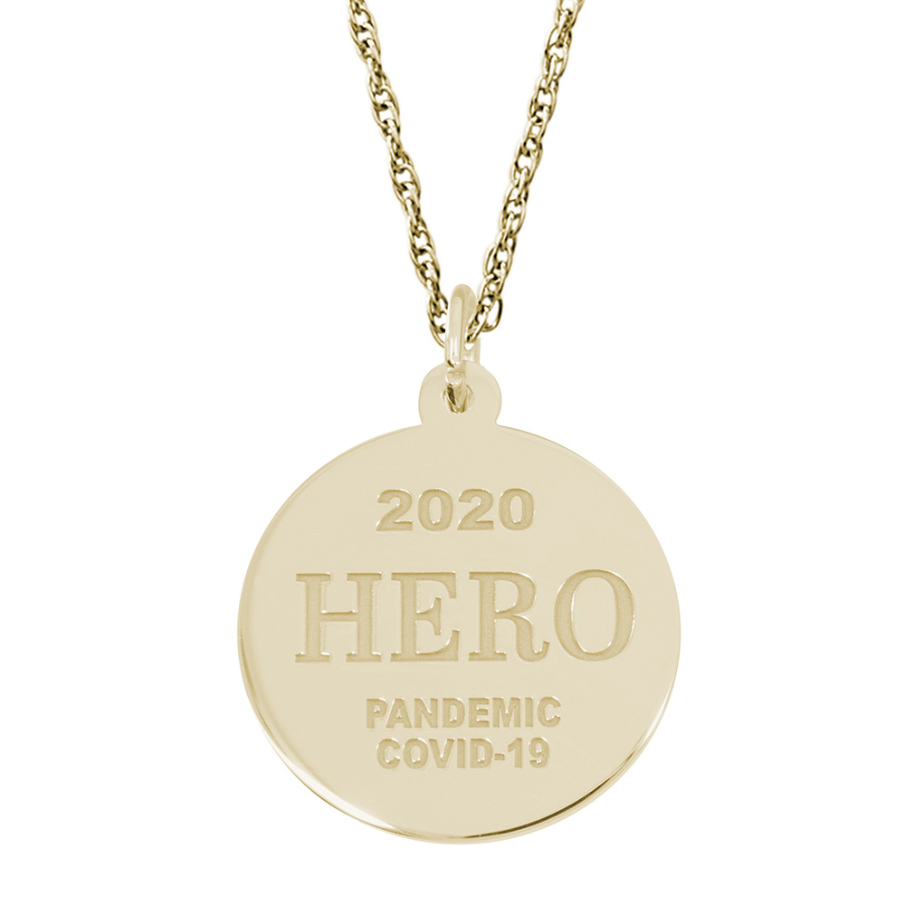 Covid-19 Hero Charm & Chain by Rembrandt Charms