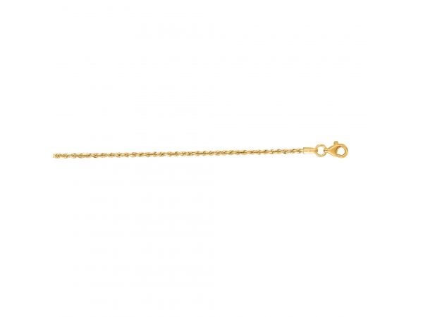 Unisex 10k Yellow Gold Diamond Cut Rope Chain Adair Jewelers  Missoula, MT
