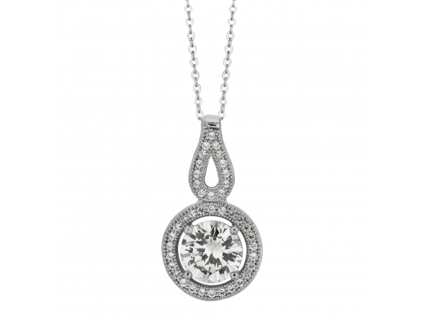 Sterling Silver With Rhodium Finish Pendant Wyatt's Jewelers Seattle, WA