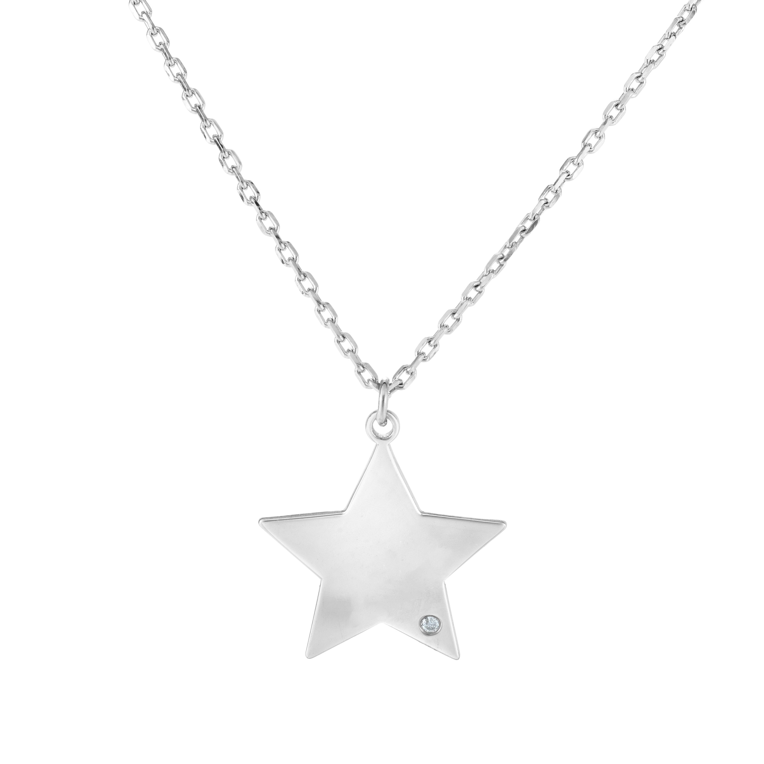 Sterling Silver With Rhodium Finish Necklace Wyatt's Jewelers Seattle, WA