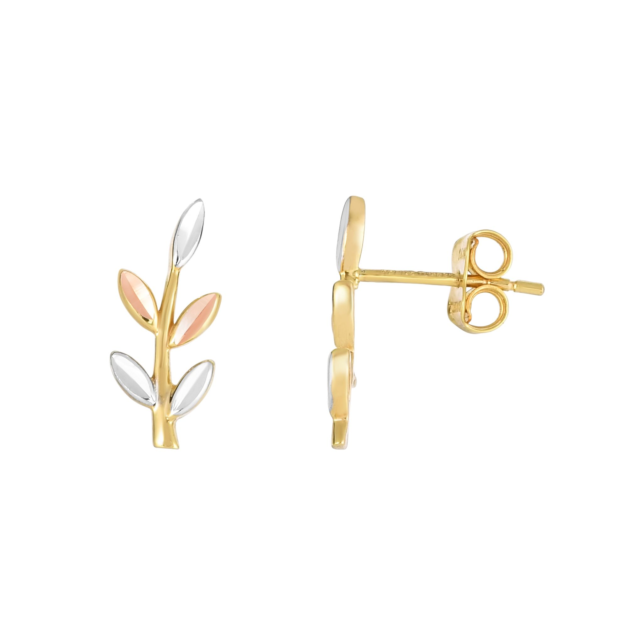 14K Tri-Color Gold Earring Grogan Jewelers Florence, AL