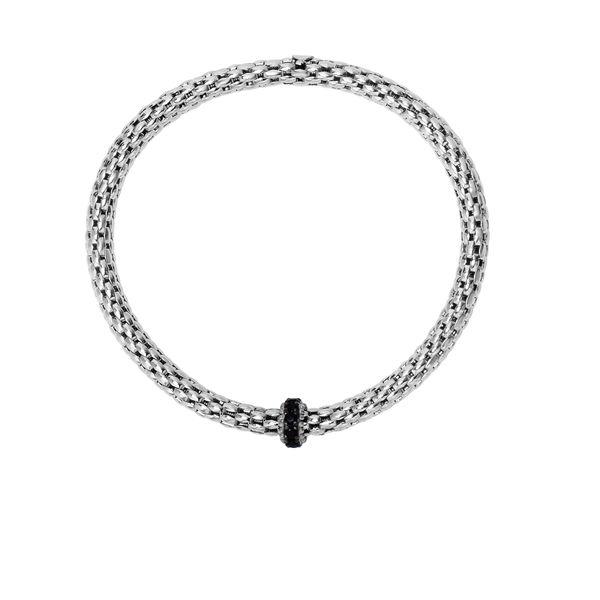 Sterling Silver With Black Rhodium Finish Bangle Bracelet